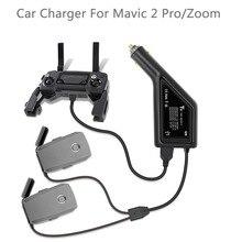 DJI MAVIC 2 PRO & Mavic 2 ZOOM Drone 리모컨 용 USB 차량용 충전기가있는 3 in 1 배터리 충전기