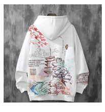 hoodie men plus velvet trend Harajuku style autumn and winter clothes loose hip-hop japanese streetwear couple Fashion hooded cheap Japan Style Trip CN(Origin) Full Polyester Cotton Print Regular WGWY17 Hoodies Belt Thick (Winter) NONE