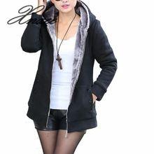 2019 Autumn Women Zipper Hoodies Coat Female Slim Fit Fleece Jackets Long Sleeve Warm Fur Coats Plus Size 4XL