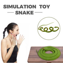 Realistic Fake Rubber Toy Snake Green Fake Snakes 49 Inch Long#P5(China)