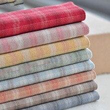 DIY Япония маленький ткань группы трикотажная ткань из хлопка с полиэстером, для своими руками шитьё вручную собственноручных изделий, в клетку, в горошек и в полоску, 8 цветов