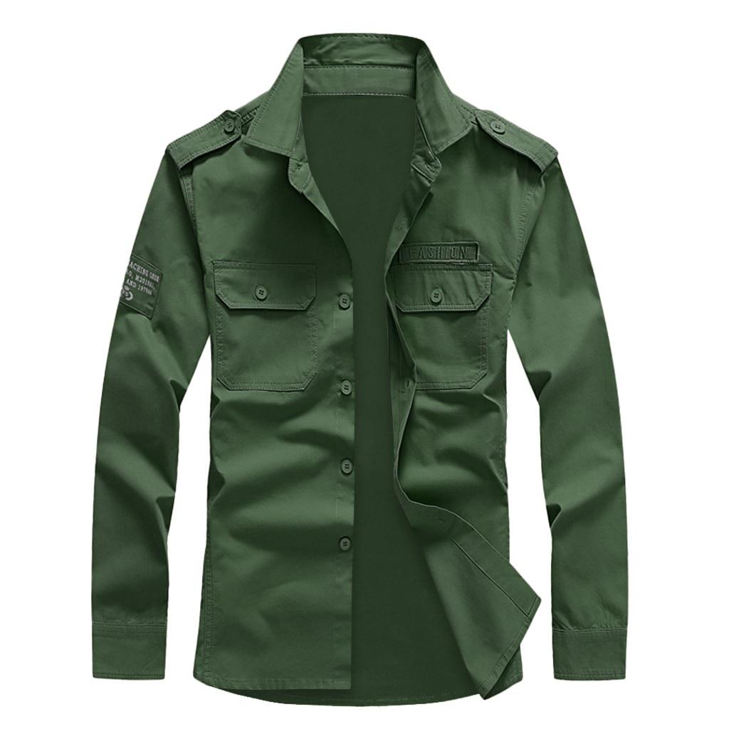 Men Shirt Casual Solid Button Long Sleeve Turn-down Collar Top Blouse Plus Size Hawaiian Shirt 6XL Camisa Masculina Streetwear