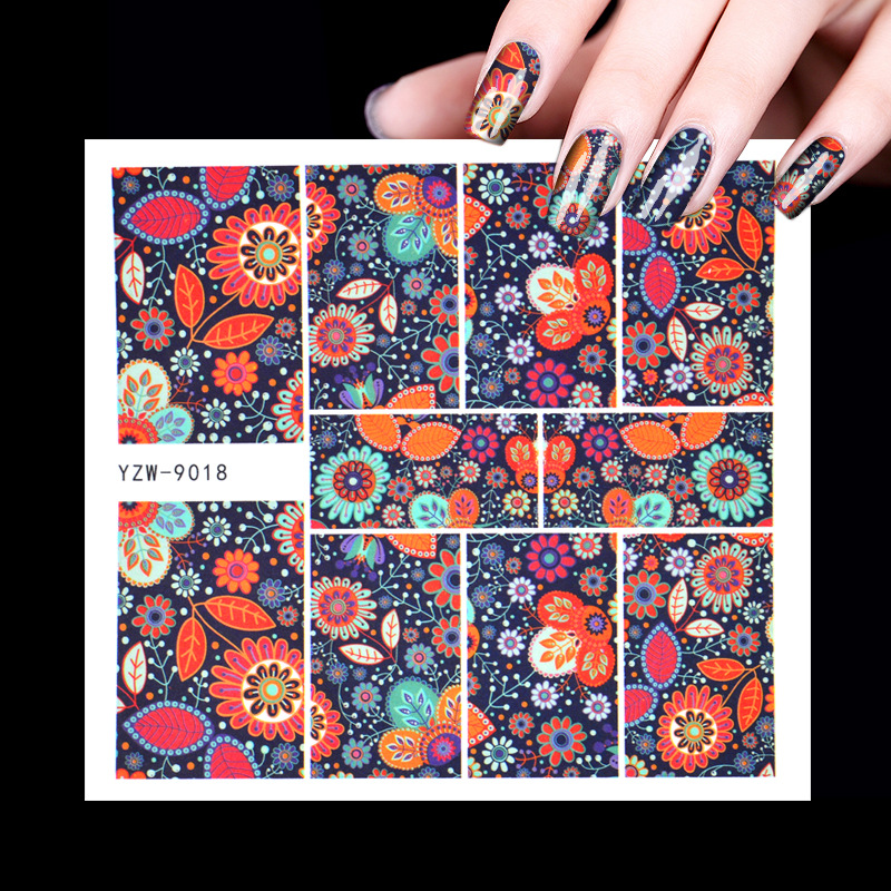Nail Sticker Stick Completely Waterproof South Korea Cartoon Figure Animal Hipster Nail Decals Watermarking Waterproof Beginners