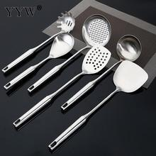 6pcs Stainless Steel Spatula Kitchen Pot Heat-Resistant Soup Spoon Non-Stick Special Cooking Shovel Tools Accessories