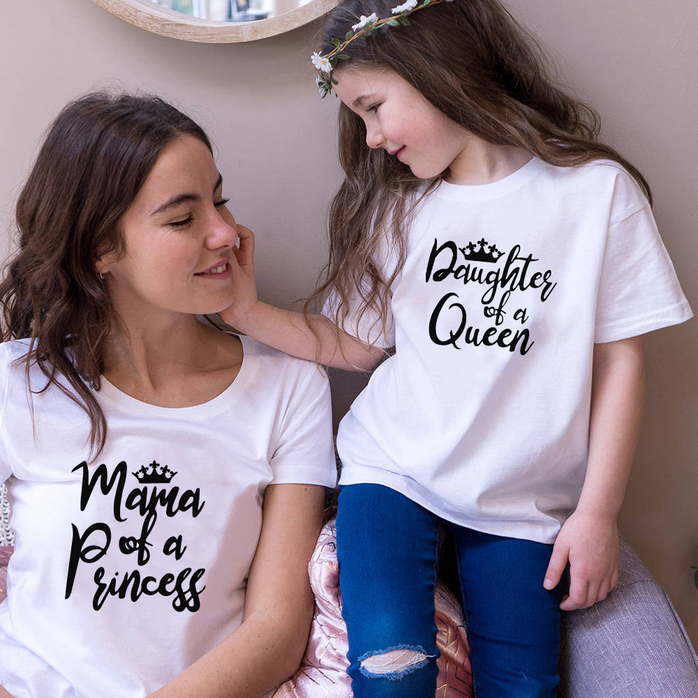 Matching Family Outfits Mom And Daughter T Shirt Mother Day Present Summer Short Sleeve Matching Casual Matching Outfits Tops