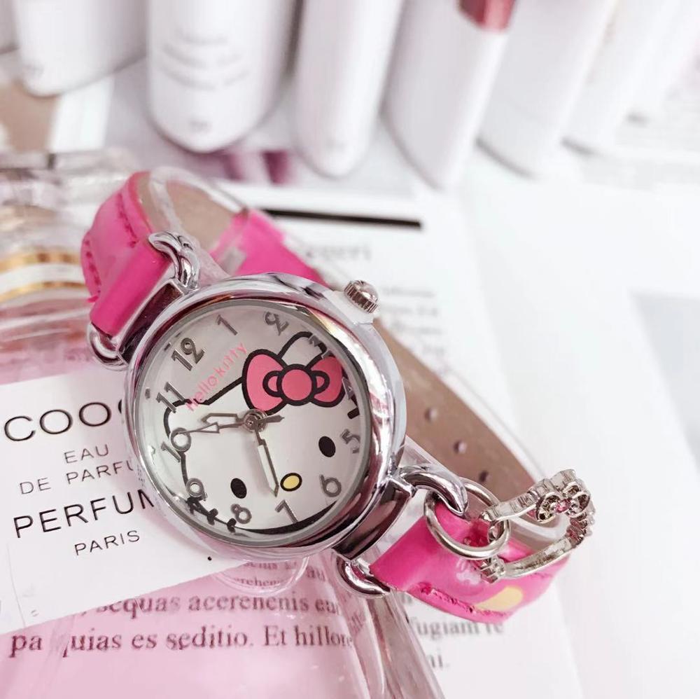 привет котенок дети часы мода милый kt кошка ребенок часы девочка мультфильм дети часы +водонепроницаемый ремень дети часы