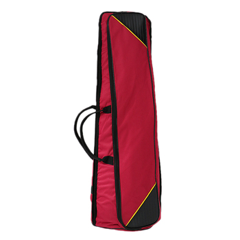 Wytrzymała torba do przechowywania puzonu tenorowego pojemnik bordowy kolor do puzonisty tanie i dobre opinie Tooyful