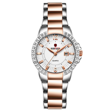 KADEMAN Womens Watch Classic Luxury Rhinestone Ladies Watches Stainless Steel Quartz Wrist Calendar Relogio Feminino