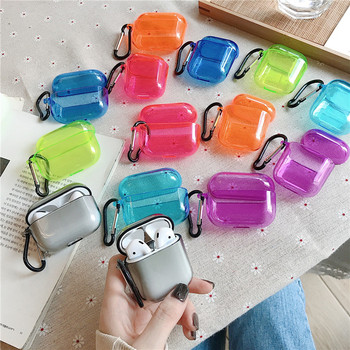 1 PC for AirPods Case Candy Color Transparent Shockproof Cover Air Pods 2 Pro Earphone Protector Hard Shell