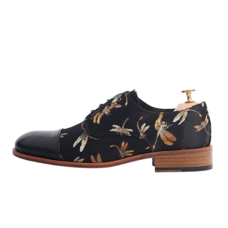 Sapatos masculinos moda cor sólida plutônio costura