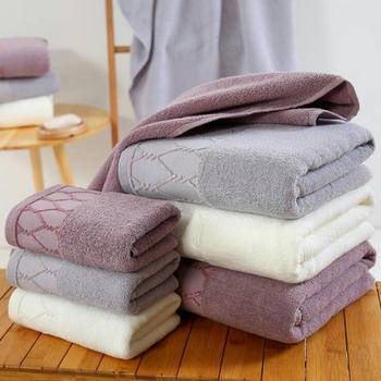 ZKJSMGS Bath Towels Cotton Adult Couple Bathroom Towel Soft and Absorbent Solid Color Large Towel 70 x 140 cm 3 colors to choose