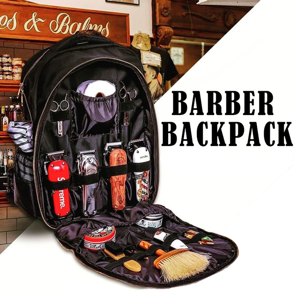 Hairdressing Tools Backpack Hair Clipper Scissors Comb Hair Dryer Supplies Multifunction Barber Storage Bag Hairdresser Backpack