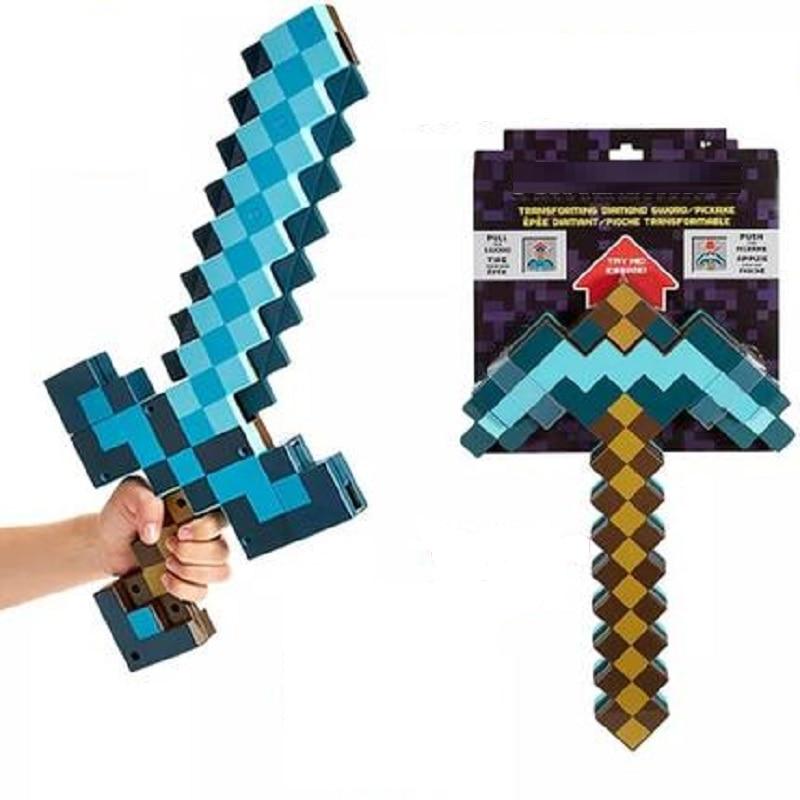 Синий Алмазный меч из пены ЭВА, мягкая игрушка в стиле майнкрафт, милые детские игрушки