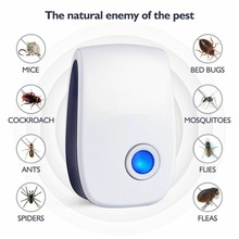 Ultrasonic Reject Pests Repellent Electronic Insect Cockroach Killer Household Fly Rodent Repeller Mosquito Killer Pest Control