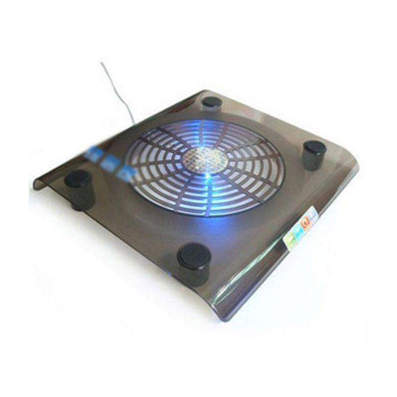 Laptop Cooler USB <font><b>Cooling</b></font> Big <font><b>Fan</b></font> LED Light Cooler Pad Stand for 15