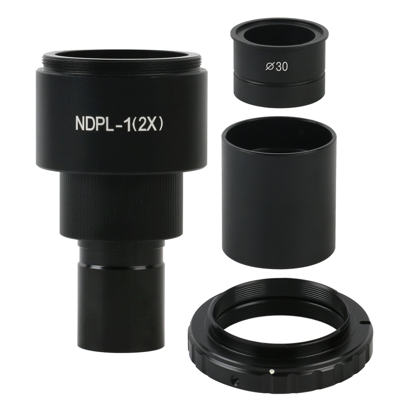 2019 NEW NDPL 2X SLR EOS Camera T2 Mount Eyepiece Adapter 23.2mm 30mm Of Biological Microscop Stereo Microscop For Canon Nikon