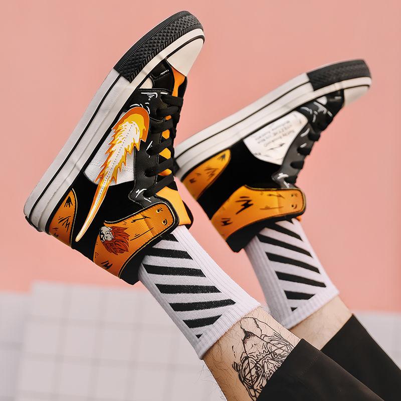 2020new Ins Japane Board Shoes Men Pokemon Damping Outsole HIP-HOP Trekking Leisure Summer Cartoon Zapatills Sneaker Board Shoes