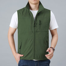 Mens Vests Men's Summer Sleeveless Vest Coat Spring Autumn Casual Travels Vest Outdoors Thin Vests Waistcoat Jackets Male Tops(China)