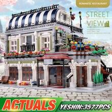 Пресс-форма для KING 0920 Streetview строительные игрушки романтический ресторан модель строительные блоки сборки Кирпичи игрушки для детей, подарк...