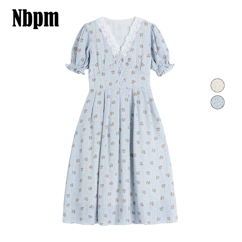 2021 в винтажном стиле; Платье с цветочным рисунком для женщин элегантное шифоновое платье с кружевами в Корейском стиле Вечерние платья с ру...