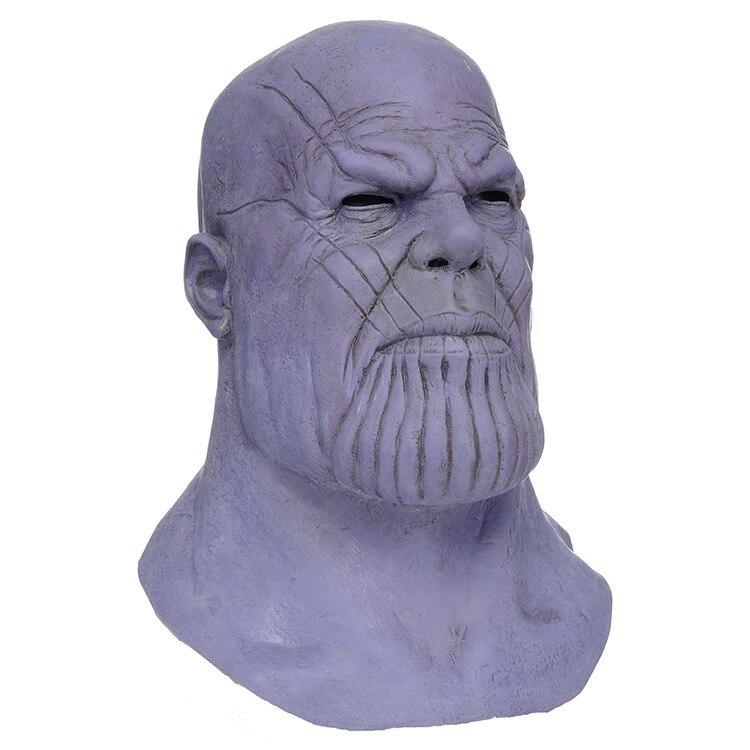 Exquis Marvel superhéros arme accessoires de fête Cosplay Thanos Latex masques Halloween fête Collection accessoires casque intégral