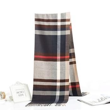 2020 Luxury Brand Men's Winter Plaid Scarf Warm Women Cashmere Shawls Scarves Casual Tassel Scarfs Man Business Scarf Pashmina