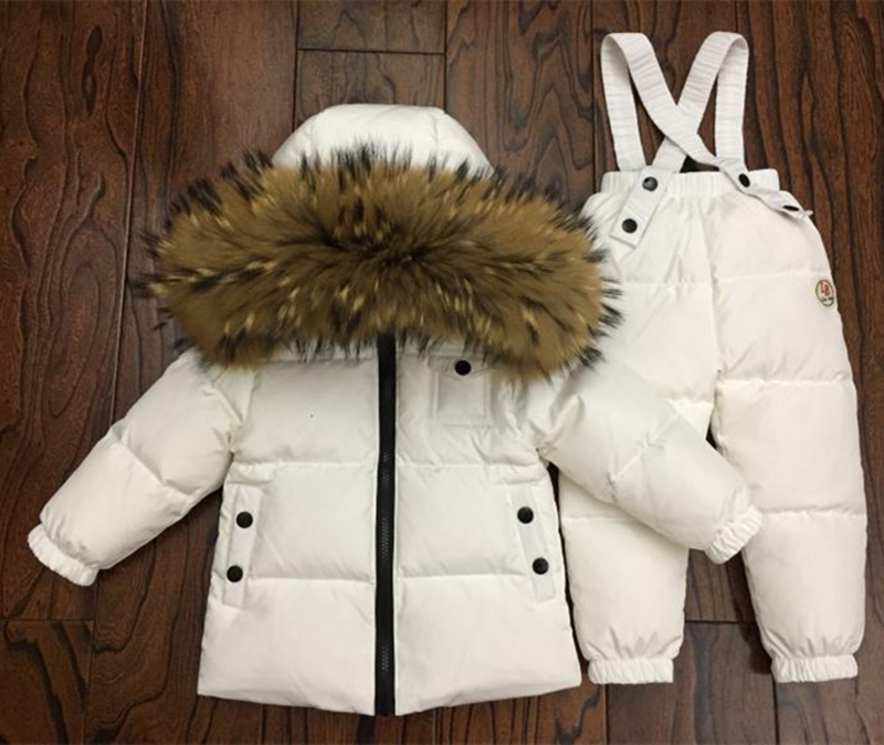 30degrees Russia Winter Baby Sets Children Clothing for Girl Ski Suit Boy Outdoor Sport Kids Down Coats Jackets+trousers Fur-in Clothing Sets from Mother & Kids    2
