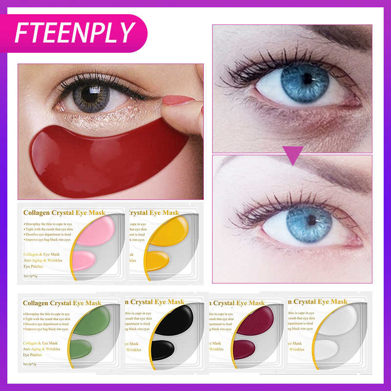 FTEENPLY 24K Gold Eye Mask Collagen Eye Patches Dark Circle Eyebag Anti-Aging Wrinkle Firming Moisturizing Skin Care 5 คู่