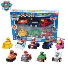 Figuras de acción de la Patrulla Canina, 9 Uds., coche de rescate, modelo de figuras de acción, Chase, Ryder, coche, chico