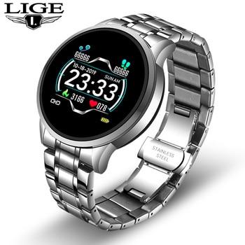 2020 New stainless steel Digital Watch Men Sport Watches Electronic LED Male Wrist Watch For Men Clock Waterproof Bluetooth Hour 11