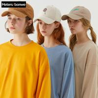 Metersbonwe, базовые толстовки для женщин, уличная одежда, женские осенние одноцветные толстовки, Повседневная Толстовка, новинка 2019, топы в стил...