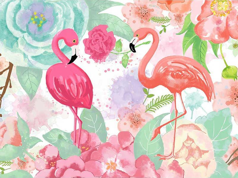 Полный 5D Diy Daimond Картина Вышивка крестом Розовый фламинго 3D Алмазная роспись
