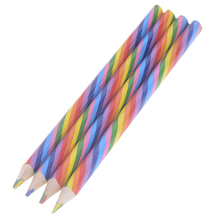 Pencil-Wood Protection Rainbow Office Bright-Color New Environmental Appearance
