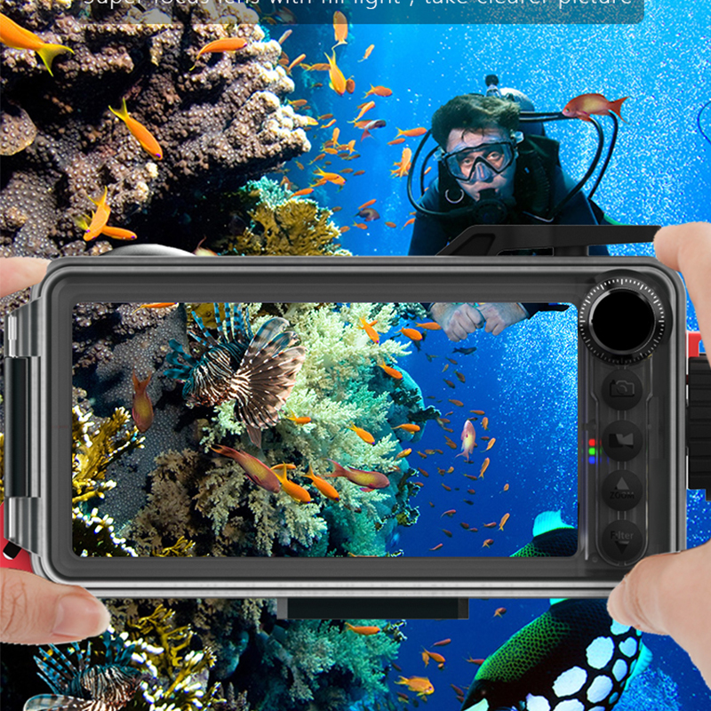 Aluminum alloy Diving Case For Huawei Mate 20 30 7 8 9 10 Pro Lite 20 Lite Pro 20X Cover Waterproof underwater photography - 5