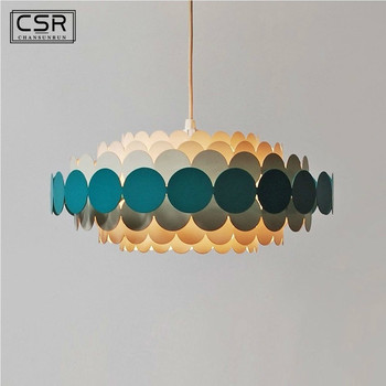 Modern Round Blue Petal Chandelier Lighting Living Room Bedroom Led Nordic Chandeliers Indoor Light Fixtures Lustres De Cristal new design large crystal chandeliers lighting fixtures lustre de cristal led light chandelier living room lamps