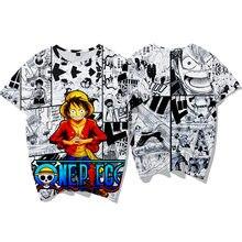 New One Piece T Shirt Monkey D. Luffy Cartoon Men Women T Shirt Child Adults Fashion Harajuku Roronoa Zoro Short Sleeve T-shirt