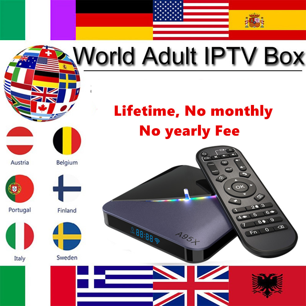 Freies globale kanäle A95X F3 Air 8K Android 9,0 TV BOX Amlogic S905X3 4K Youtube Netflix wifi 2GB 16GB Licht IPTV TV Box