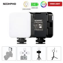 SOONPHO 68R LED Webcam Light Video Light Photo Studio Light On Camera Light Video Conference light Soft Diffuser RGB Fill Light
