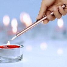 Ультра длинный огонь стартер многоцветная струйная Зажигалка алюминиевый сплав безопасный фонарь зажигалки для свечи для ароматерапии барбекю сигареты