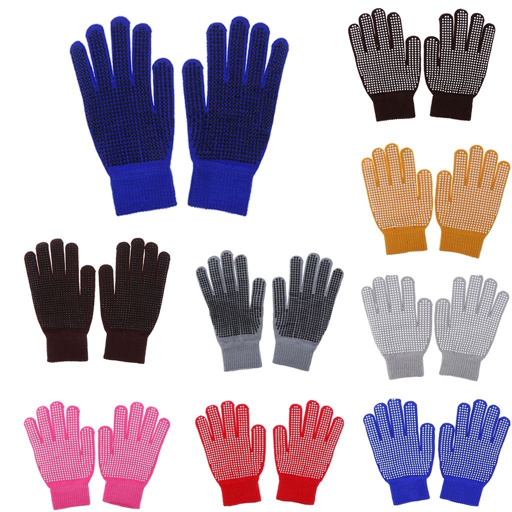 Woven Horse Riding Pimple Grip Gloves Equestrian Horse Riding Equipment Accessories