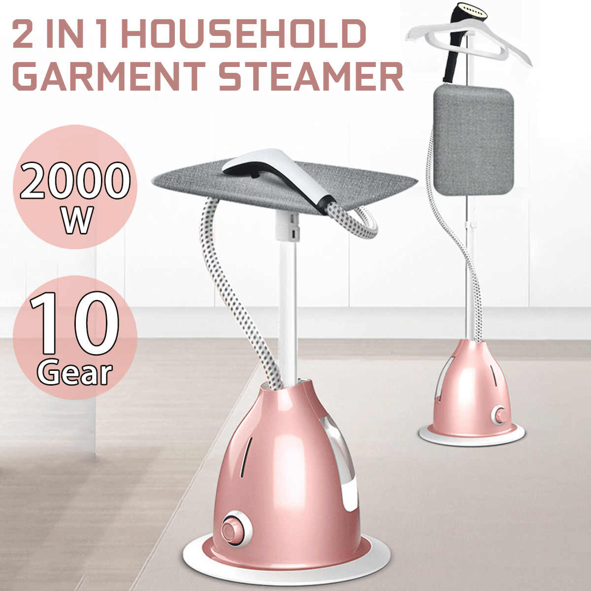 Steam Iron 2000W Garment steamer household handheld ironing machine 10 gear adjustable vertical flat steam iron clothes steamer