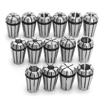 15pcs/set ER11 1-7MM Spring Collet High Precision Collet Set For CNC Engraving Machine Lathe Mill Tool high quality 1pc 12 7mm to 6mm 1 8 inch precision engraving bit cnc router tool adapter for collet wear resistance best price href page 4 page 3