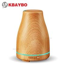 KBAYBO 120 مللي زيت عطري ناشر هواء فوق صوتي مرطب بحبوب خشب