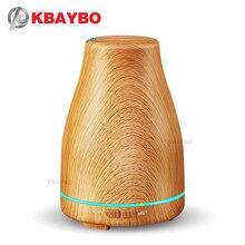 KBAYBO 120ml Aroma Olio Essenziale Diffusore Umidificatore Ad Ultrasuoni con Venature del legno