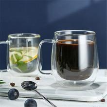 Двухслойные Стеклянные креативные кофейные чашки кружки для сока молочная чашка для кофе термостойкие пивные кружки Коктейльные бокалы Verre