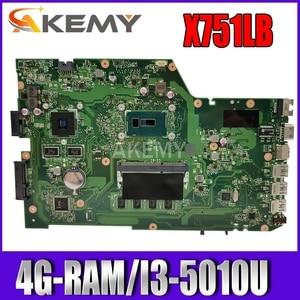 X751LB GT940M 4G/I3-5010U Mainboard REV 2.3 For ASUS X751LX R752LA R752LD X751LN X751LJ A751L Laptop motherboard 90NB08F0-R00060(China)