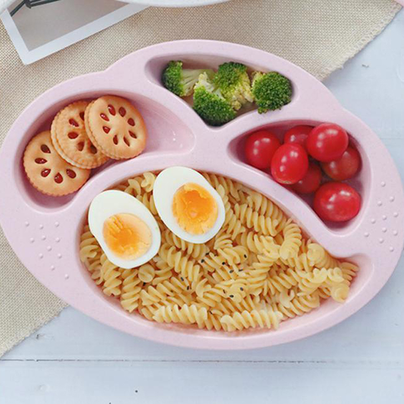 Baby Bowl Children Plate Kids Tableware Baby Feeding Bowl Fruit Snack Sub-grid Dinner Plate Food Dishes