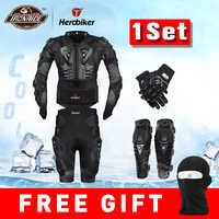 Nowy Moto Motocross Racing zbroja motocyklowa ochronny sprzęt motocykl kurtka + spodenki spodnie + ochrona ochraniacze na kolana + rękawice straż