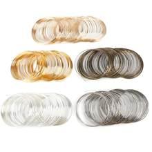 Hohe Qualität 100 Loops 0,6mm Speicher Perlen Stahl Draht Für DIY Schmuck Erkenntnisse Armreif Armband, Der Zubehör
