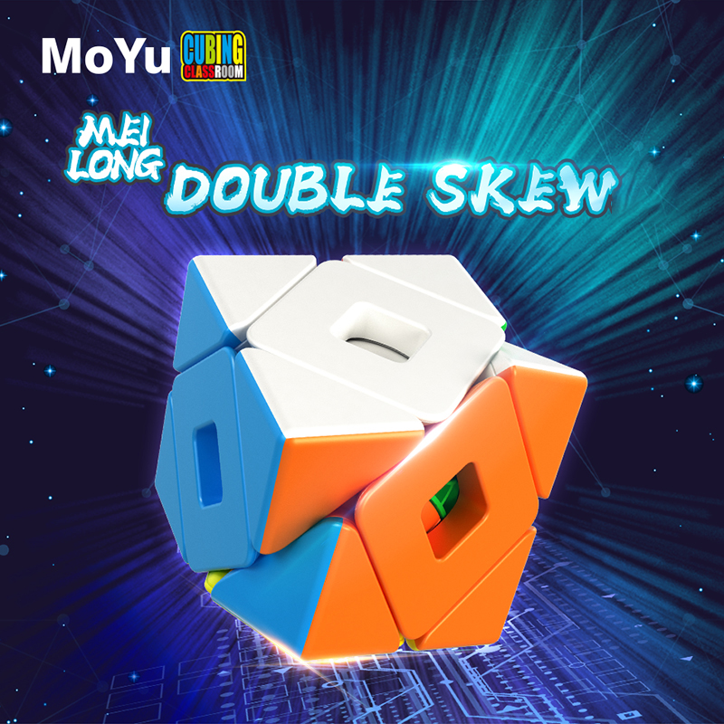 MoYu Meilong Double Skew 3x3 Magic-cube Stickerless Puzzle Professional Speed Cubes Educational Toys For Students